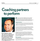 Coaching partners to perform
