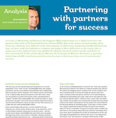 Partnering with partners