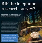 RIP the telephone research survey