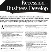 Recession proofing your business development strategy