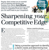 Sharpening your competitive edge