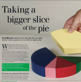 Taking a bigger slice of the pie